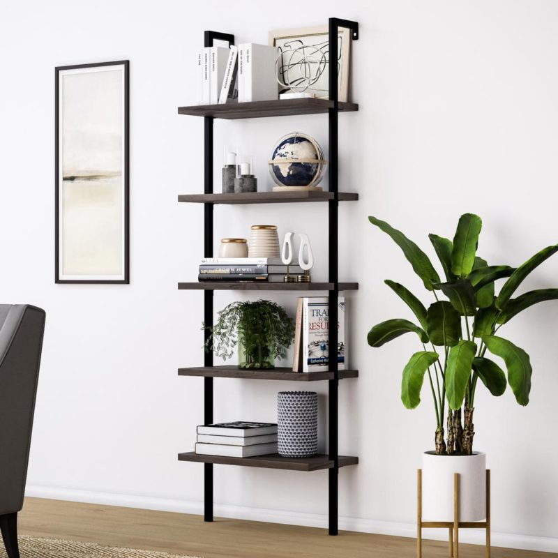 Diy Theo Ladder Bookcase In Nutmeg By Nathan James